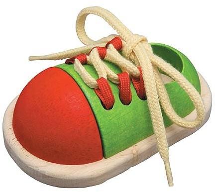 Plan Toys  Holz Lernspiel Schuh zubinden