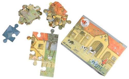Puzzel 40 stukjes boerderij. 3+