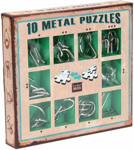 Eureka puzzel 10 Metal Puzzles Set Green