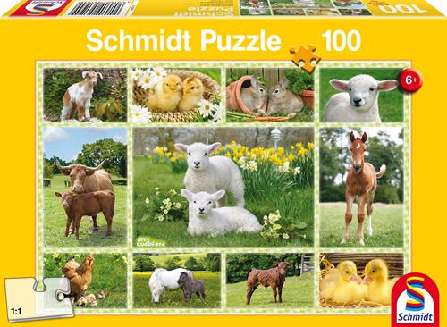 Schmidt Jonge Boerderijdieren, 100 stukjes