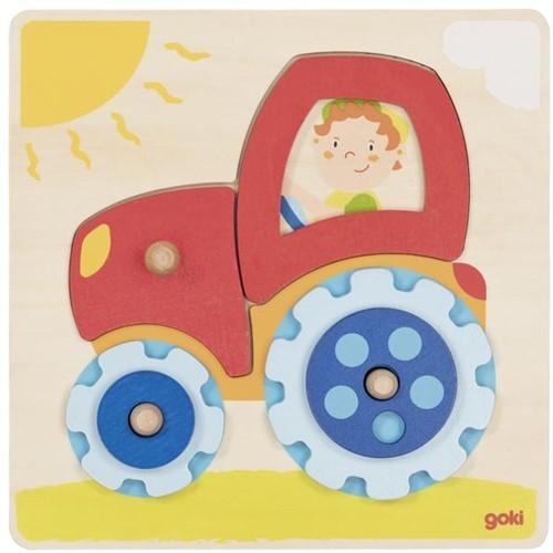 Goki Steckpuzzle Traktor