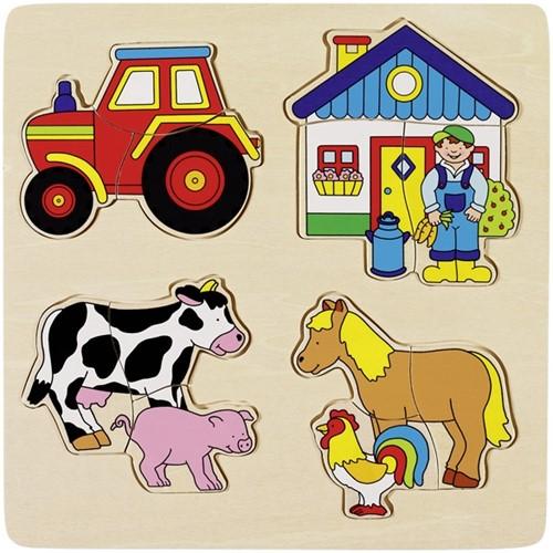 Goki Einlegepuzzle Bauernhof