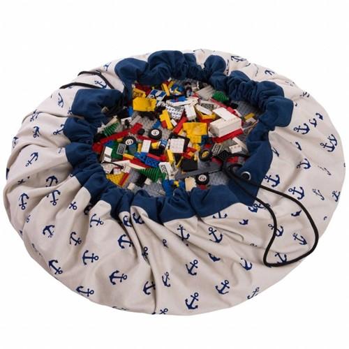 Play&Go 47.0007 Spielzeugaufbewahrung Toy storage bag Blau, Weiß Freistehend