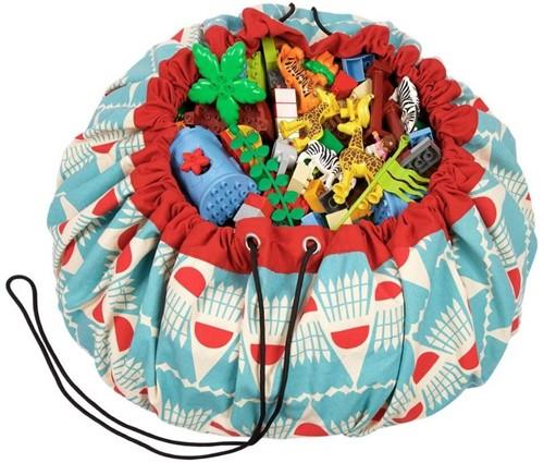 Play&Go 47.0015 Spielzeugaufbewahrung Toy storage bag Rot, Türkis, Weiß Freistehend