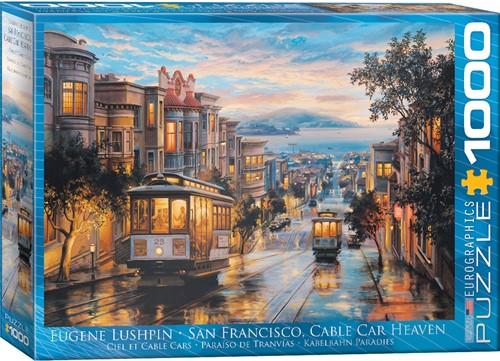 Eurographics puzzle Eugene Lushpin - San Francisco, Cable Car Heaven - 1000 Teile