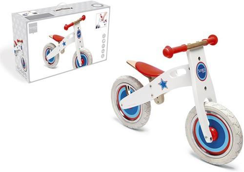 Scratch Holz Laufrad Weiß mit Stern