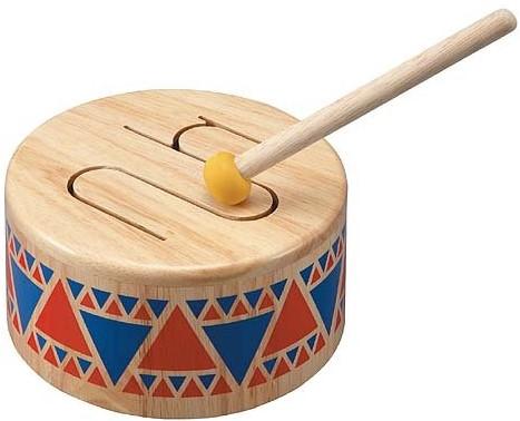 Plan Toys  Holz Musikinstrument Stabile Trommel
