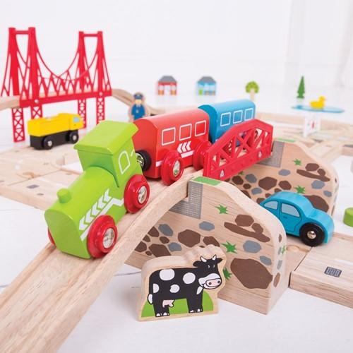 Bigjigs Road & Rail Train Set