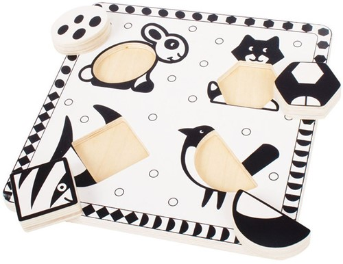 Bigjigs Black and White Pets Puzzle