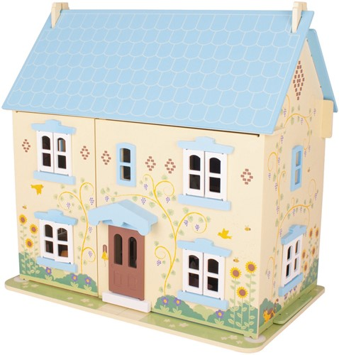 BigJigs houten poppenhuis Sunflower Cottage