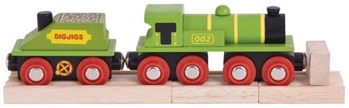 Bigjigs Big Green Engine + Coal Tender (4)