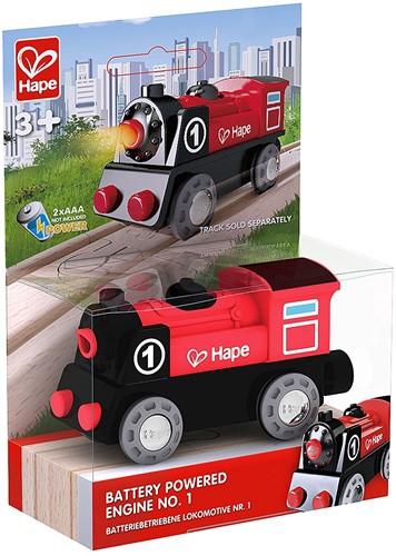 Hape Holz Eisenbahn Batteriebetriebene Lokomotive Nr. 1
