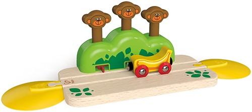 Hape Holz Eisenbahn Schienen mit Affenversteck