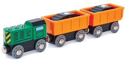 Hape Holz Eisenbahn Diesel-Frachtzug