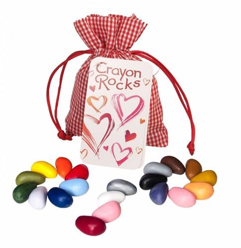 Crayon Rocks  teken en verfspullen Heart Bag 19 colors