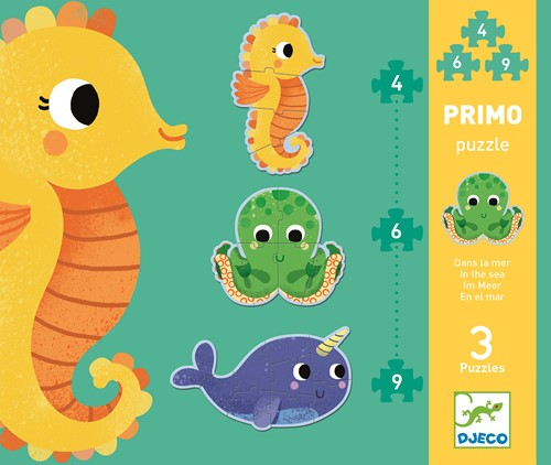 Djeco Puzzles Primo - Dans la mer