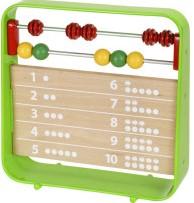 Brio Holz Lernspiel Lernuhr mit Zählrahmen 30447