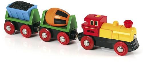 Brio Holz Eisenbahn Zug mit Batterielok 33319