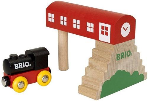 Brio Holz Eisenbahn Gebäude BRIO Classic Bahnhof 33615