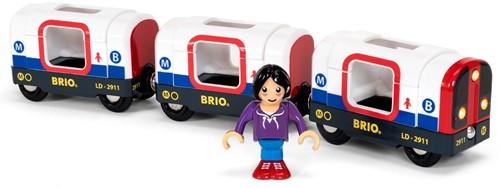 Brio Holz Eisenbahn Zubehör U-Bahn mit Licht und Sound 33867
