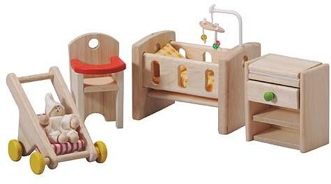Plan Toys  Holz Puppenhaus Möbel Kinderzimmer