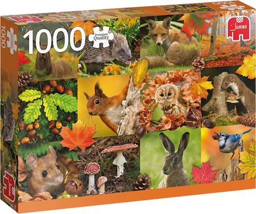 Jumbo puzzel Autumn Animals - 1000 stukjes