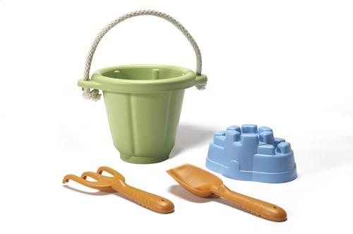 Green Toys Sandspielset - Grüner Eimer
