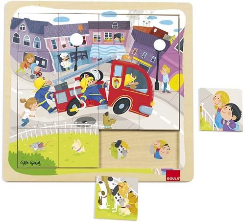 Goula Puzzle Camion Bomberos Memory