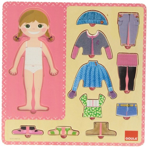 Goula Ankleiden Mädchen 10 Teile