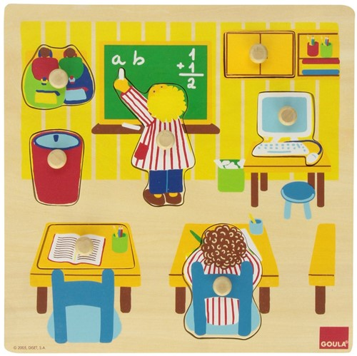 Goula Puzzle Schule 7 Teile