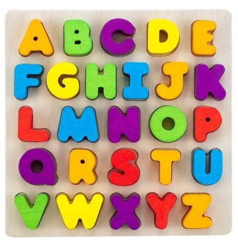 Engelhart educatief Alfabet puzzel multiplex/rubberhout