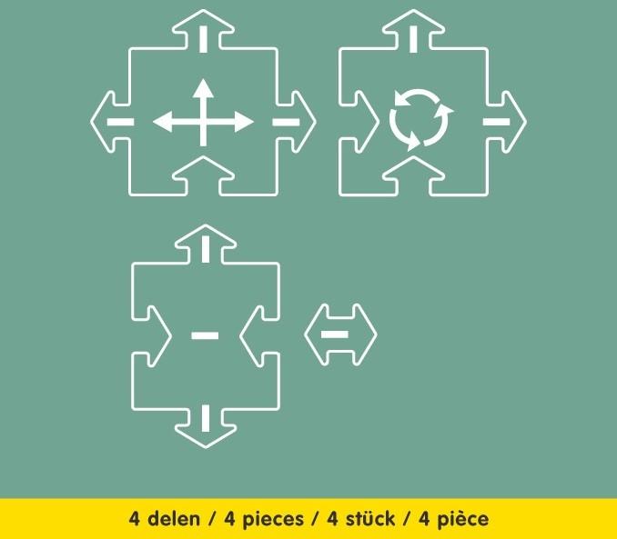 Waytoplay erweiterung Kreuzung - 4 Stücke