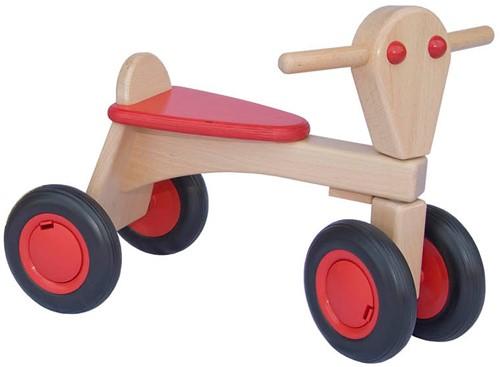 Van Dijk Toys Holz Laufrad Rot - Buche