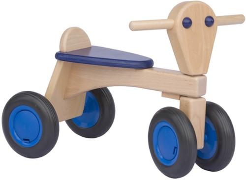 Van Dijk Toys Holz Laufrad Blau - Buche