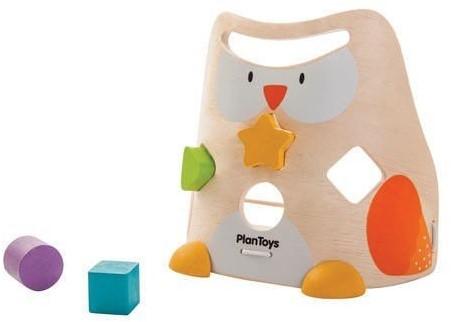Plan Toys  Holz Lernspiel Sortierbox Eule