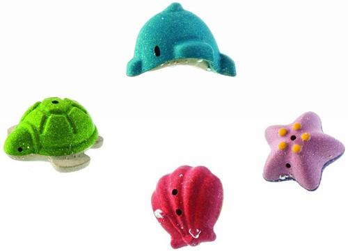 Plan Toys  Holz Badespielzeug Unterwasserwelt Badeset