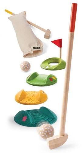 Plan Toys  Holsspiel für Draußen Mini Golf-Full Set