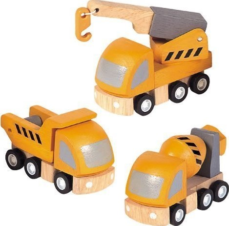 Plan Toys  Plan City Holz Spielstadt Schwerlasttransport Set
