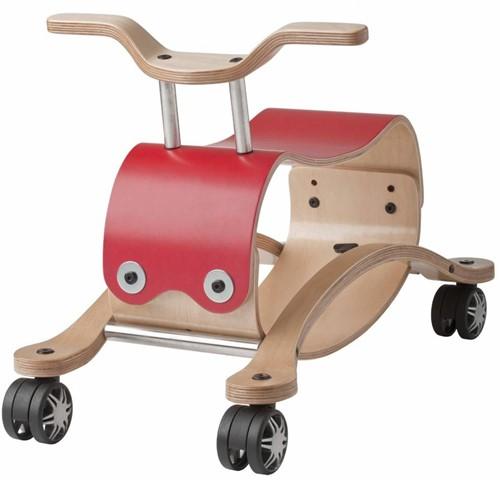 Wishbonebike Holz Laufauto - Flip Rot