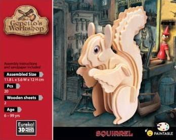 Gepetto's Workshop Squirrel