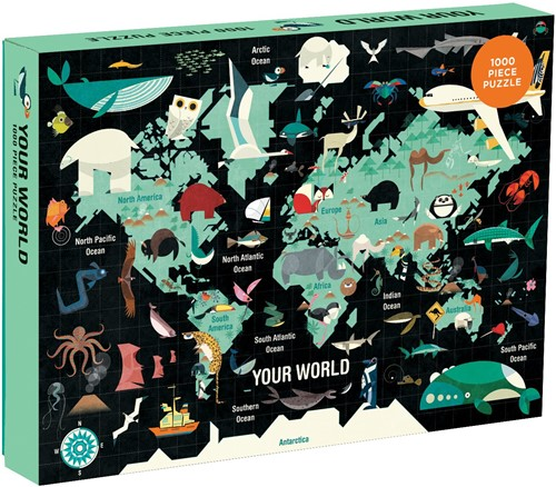 Mudpuppy 1000 pcs Puzzle/Your World