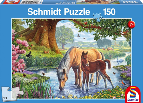 Schmidt Paarden bij de stroom, 150 stukjes
