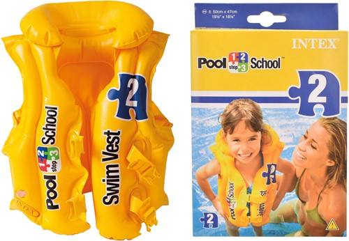 Intex Deluxe Swim Vest Pool School Step 2 Gelb Schwimmweste Muster