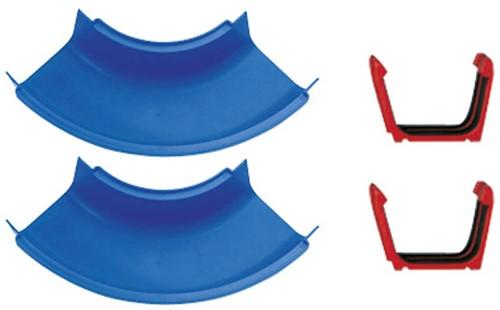 Aquaplay  Aquaplay Wasserbahn 102 2 Kurven Stücke und 2 Kupplungen