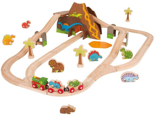 BigJigs Dinosaurier Eisenbahn Set