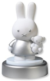 Bambolino Toys Miffy 33197 Baby-Nachtlicht Freistehend Silber, Weiß LED