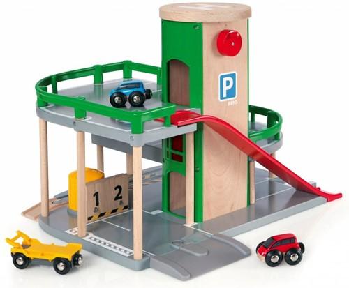 Brio Spielstadt Gebäude Parkhaus Straßen & Schienen 33204