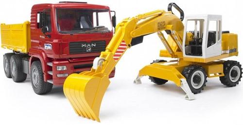 BRUDER MAN TGA Construction truck with Liebherr Excavator Spielzeugfahrzeug