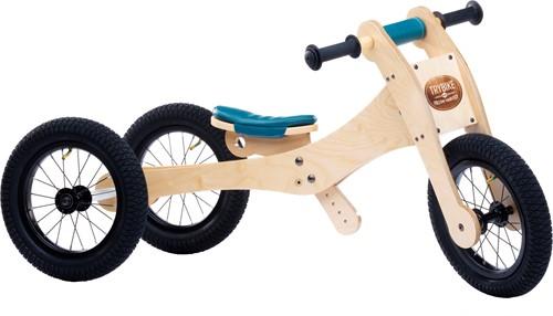 Trybike Holz Laufrad 4-in-1 Blau