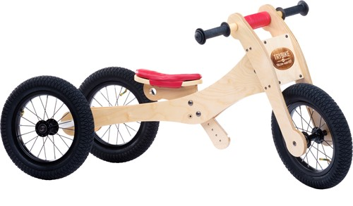 Trybike Holz Laufrad 4-in-1 Rot